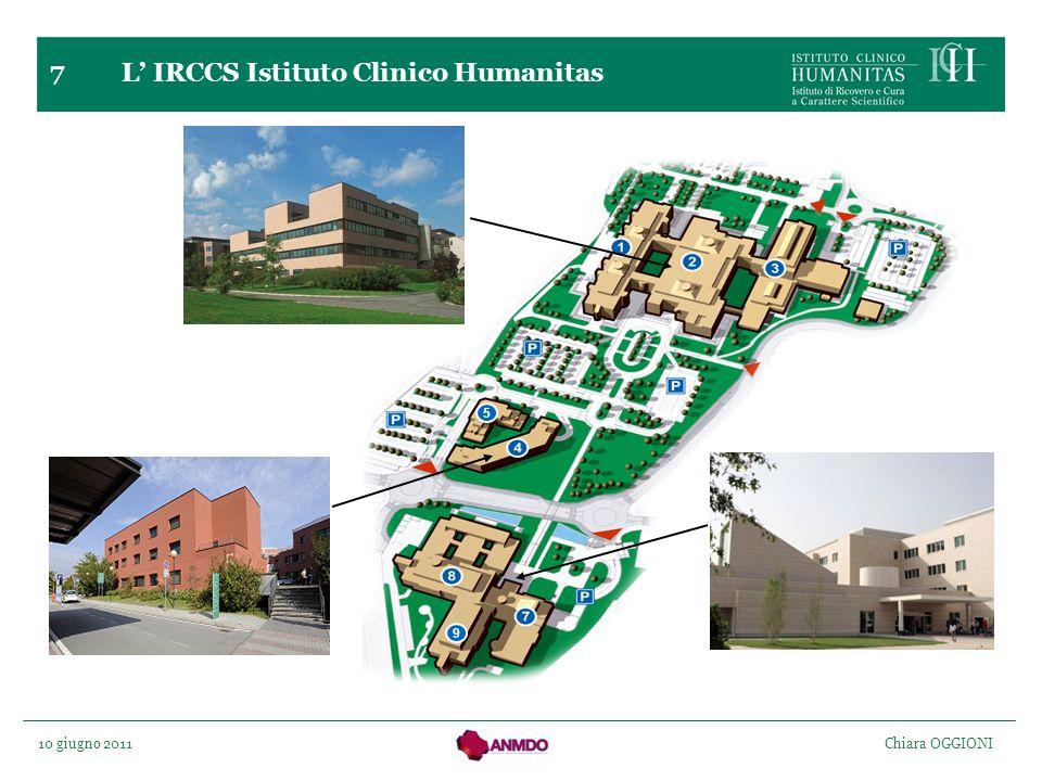 10 giugno 2011 Chiara OGGIONI 5 9 7 L IRCCS Istituto Clinico Humanitas