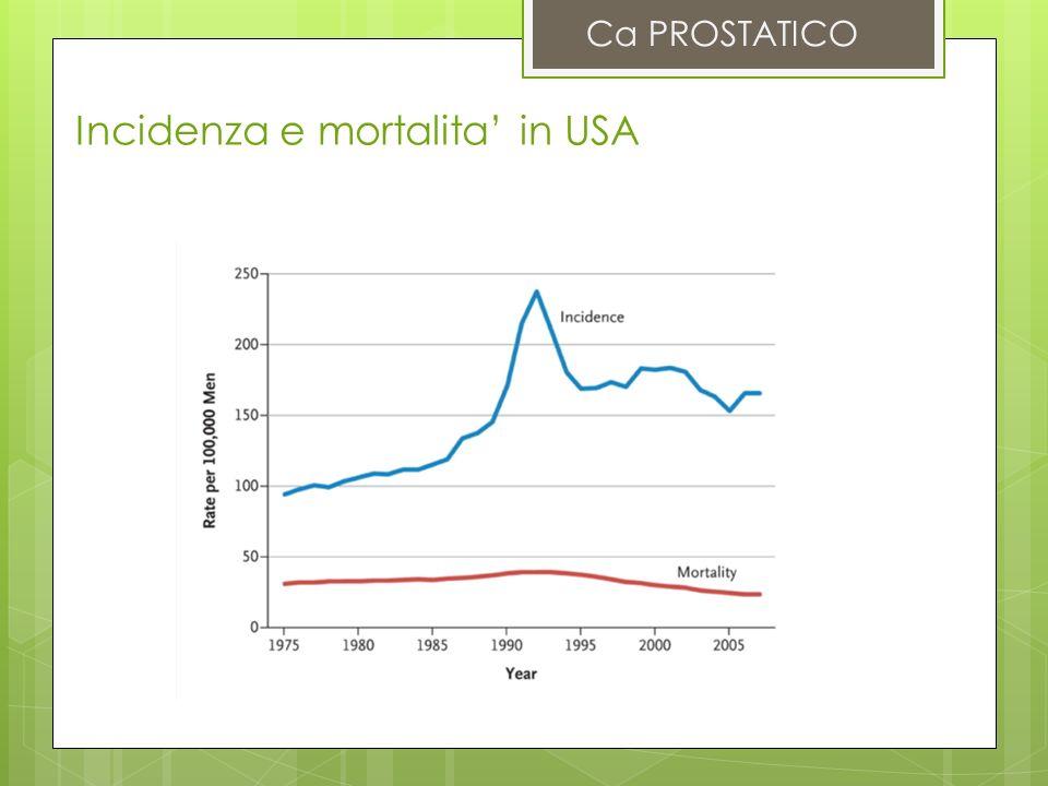 Incidenza e mortalita in USA Ca PROSTATICO