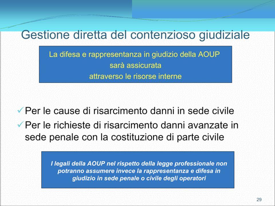5 Tutela legale garantita dallAzienda Polizza di tutela legale: rosa di avvocati tra cui l operatore potrà scegliere il legale al quale affidare la pr