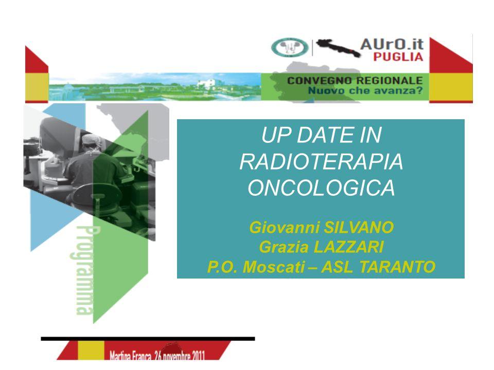 UP DATE IN RADIOTERAPIA ONCOLOGICA Giovanni SILVANO Grazia LAZZARI P.O. Moscati – ASL TARANTO