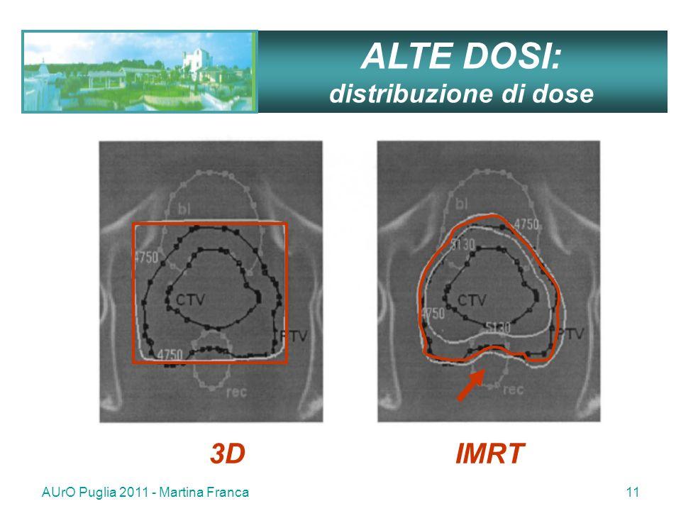 AUrO Puglia 2011 - Martina Franca11 3D IMRT ALTE DOSI: distribuzione di dose