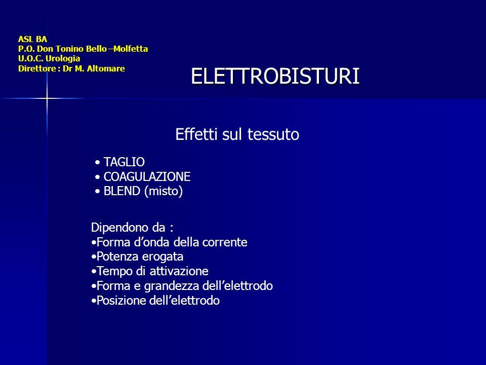 ASL BA P.O.Don Tonino Bello –Molfetta U.O.C. Urologia Direttore : Dr M.