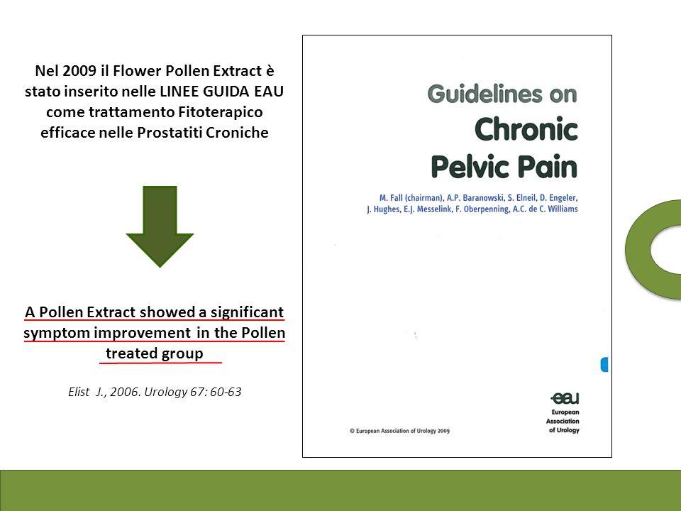 Nel 2009 il Flower Pollen Extract è stato inserito nelle LINEE GUIDA EAU come trattamento Fitoterapico efficace nelle Prostatiti Croniche A Pollen Ext