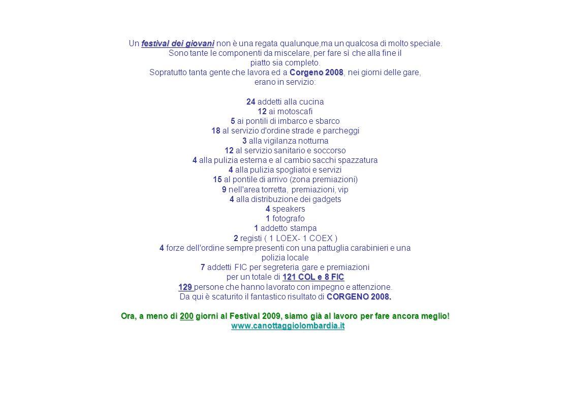 festival dei giovani Corgeno 2008 121 COL e 8 FIC 129 CORGENO 2008. Ora, a meno di 200 giorni al Festival 2009, siamo già al lavoro per fare ancora me