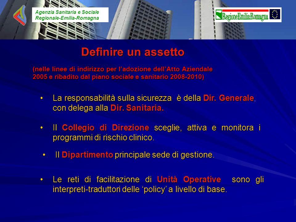 Agenzia Sanitaria e Sociale Regionale-Emilia-Romagna (nelle linee di indirizzo per ladozione dellAtto Aziendale 2005 e ribadito dal piano sociale e sa