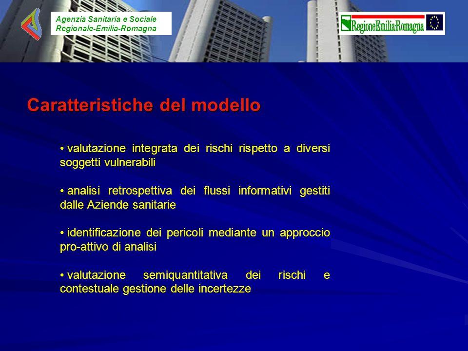 Agenzia Sanitaria e Sociale Regionale-Emilia-Romagna Caratteristiche del modello valutazione integrata dei rischi rispetto a diversi soggetti vulnerab