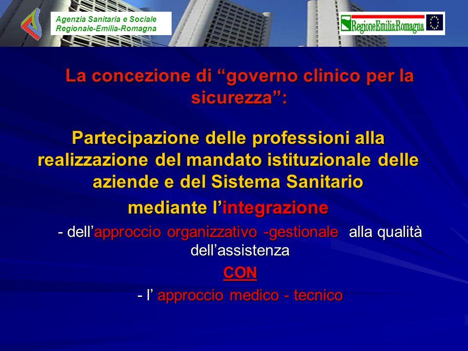 Agenzia Sanitaria e Sociale Regionale-Emilia-Romagna La concezione di governo clinico per la sicurezza: Partecipazione delle professioni alla realizza