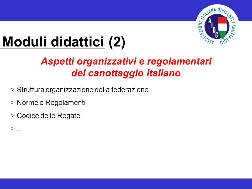 Moduli didattici (2) > Struttura organizzazione della federazione > Norme e Regolamenti > Codice delle Regate >... Aspetti organizzativi e regolamenta