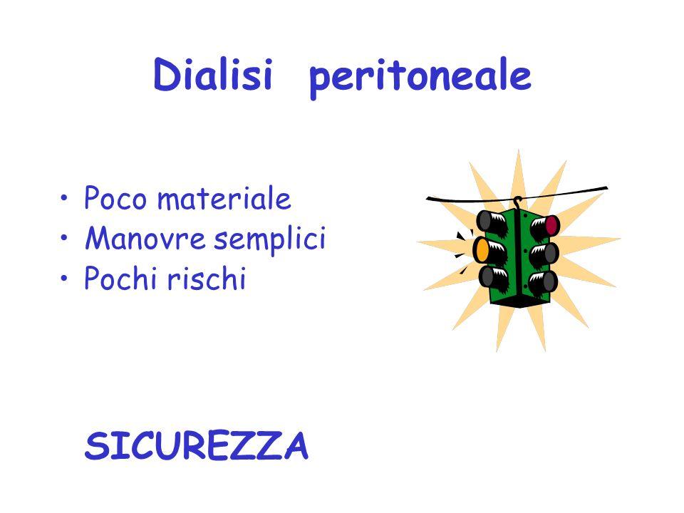 Dialisi peritoneale Poco materiale Manovre semplici Pochi rischi SICUREZZA