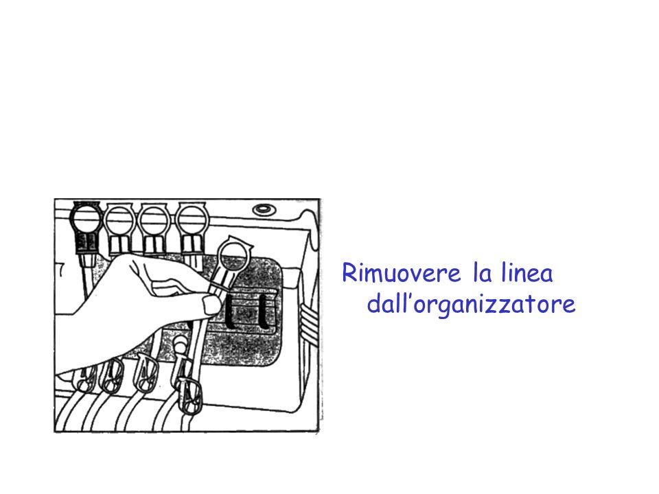 Rimuovere la linea dallorganizzatore