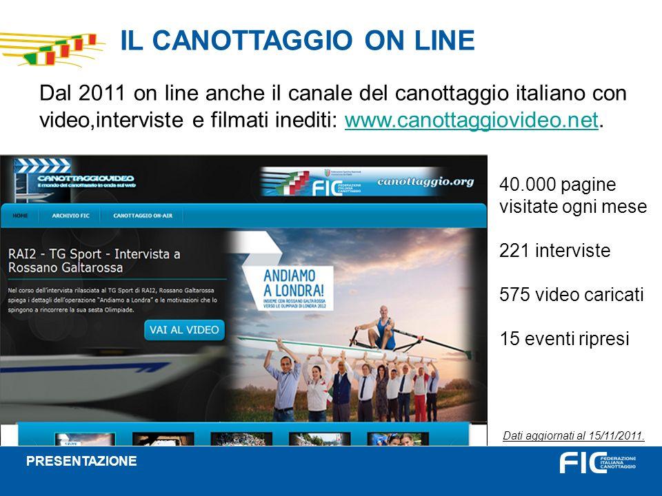 IL CANOTTAGGIO ON LINE Dal 2011 on line anche il canale del canottaggio italiano con video,interviste e filmati inediti: www.canottaggiovideo.net.www.