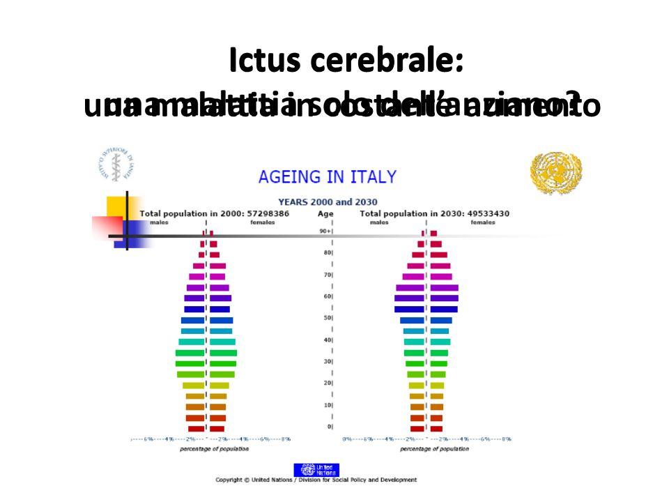 Ictus cerebrale: una malattia solo dellanziano? Ictus cerebrale: una malattia in costante aumento