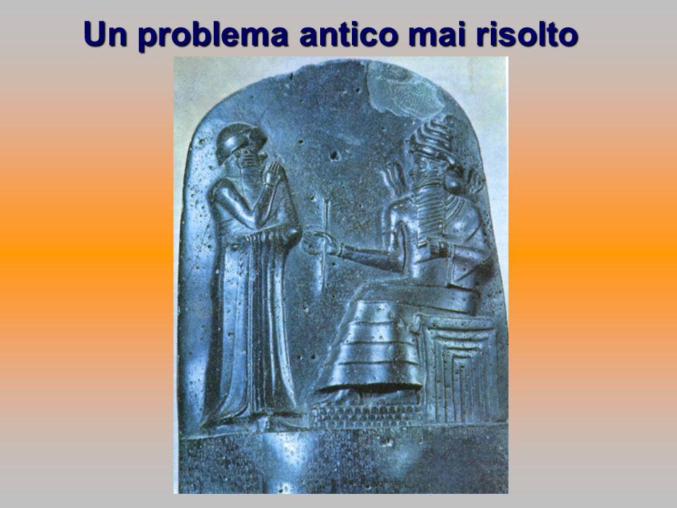 Un problema antico mai risolto