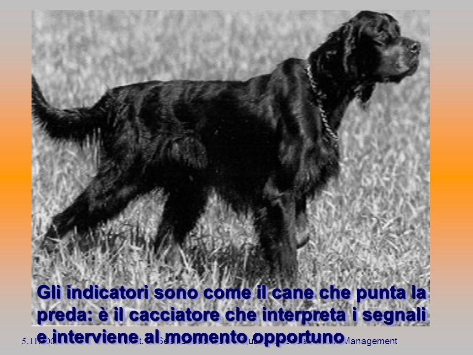 5.11.2009 Dott. E. Sesti Direttore UOC Qualità aziendale e Risk Management Gli indicatori sono come il cane che punta la preda: è il cacciatore che in