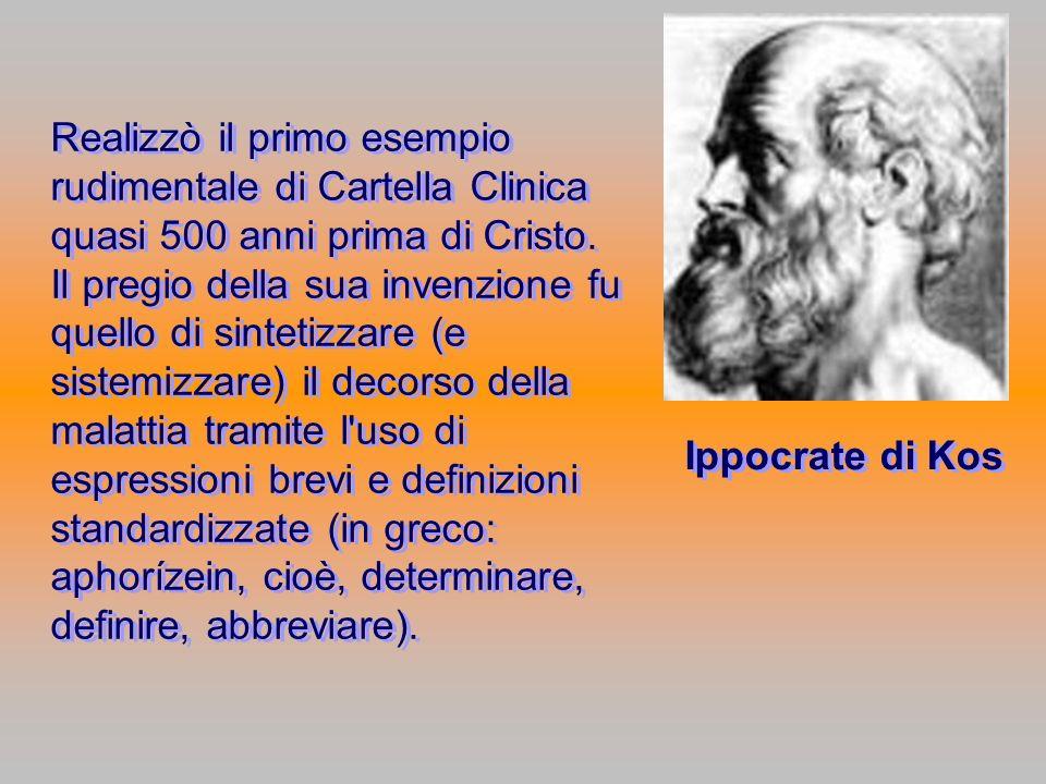 Realizzò il primo esempio rudimentale di Cartella Clinica quasi 500 anni prima di Cristo. Il pregio della sua invenzione fu quello di sintetizzare (e