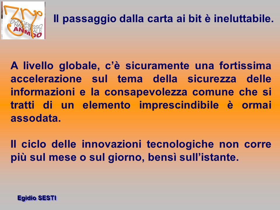 Egidio SESTI A livello globale, cè sicuramente una fortissima accelerazione sul tema della sicurezza delle informazioni e la consapevolezza comune che si tratti di un elemento imprescindibile è ormai assodata.