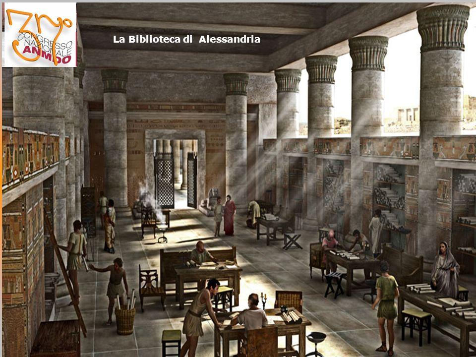 Egidio SESTI Se la Biblioteca di Alessandria non fosse andata distrutta da un incendio e più di cinquecentomila testi antichi non fossero andati perduti probabilmente la nostra civiltà, la nostra vita, sarebbe stata diversa.