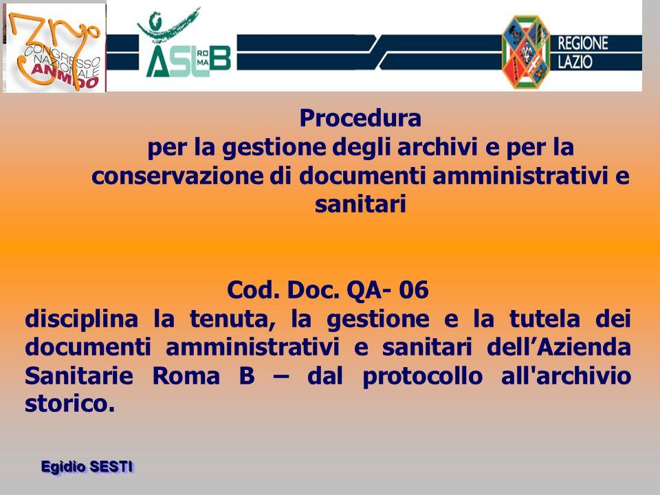 Egidio SESTI documentazione sanitaria circa 2.240.000 risultati