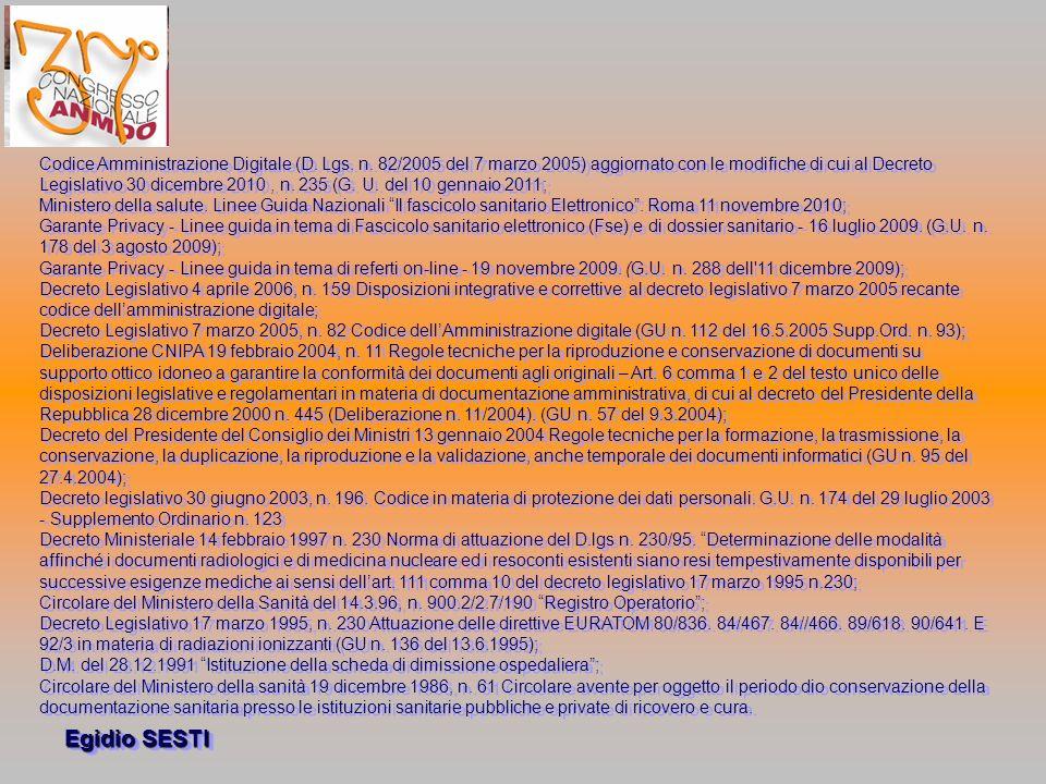 Egidio SESTI Codice Amministrazione Digitale (D.Lgs.