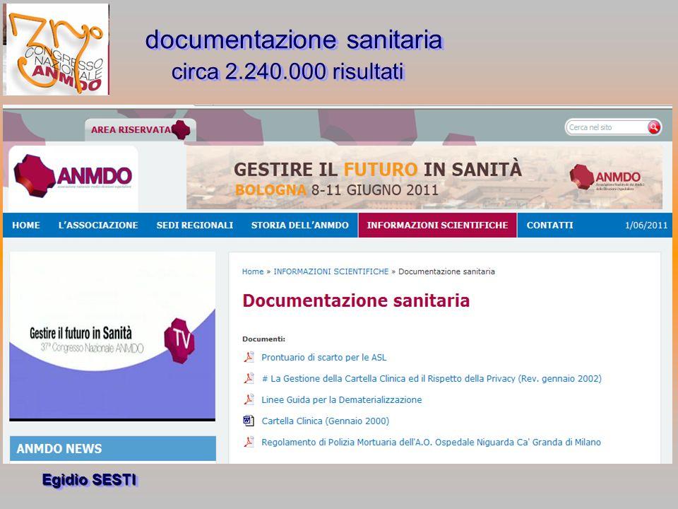 Egidio SESTI Esplosione delle registrazioni Oggi le possibilità di conservare documenti e informazioni sono illimitatamente maggiori