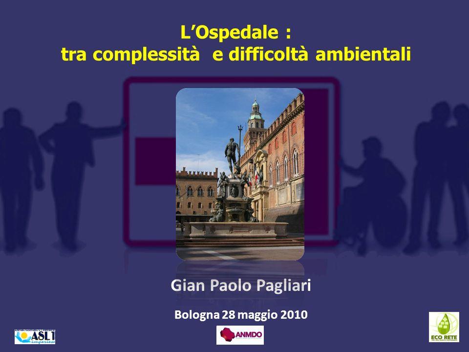 LOspedale : tra complessità e difficoltà ambientali Gian Paolo Pagliari Bologna 28 maggio 2010