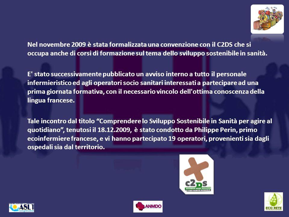 Nel novembre 2009 è stata formalizzata una convenzione con il C2DS che si occupa anche di corsi di formazione sul tema dello sviluppo sostenibile in s