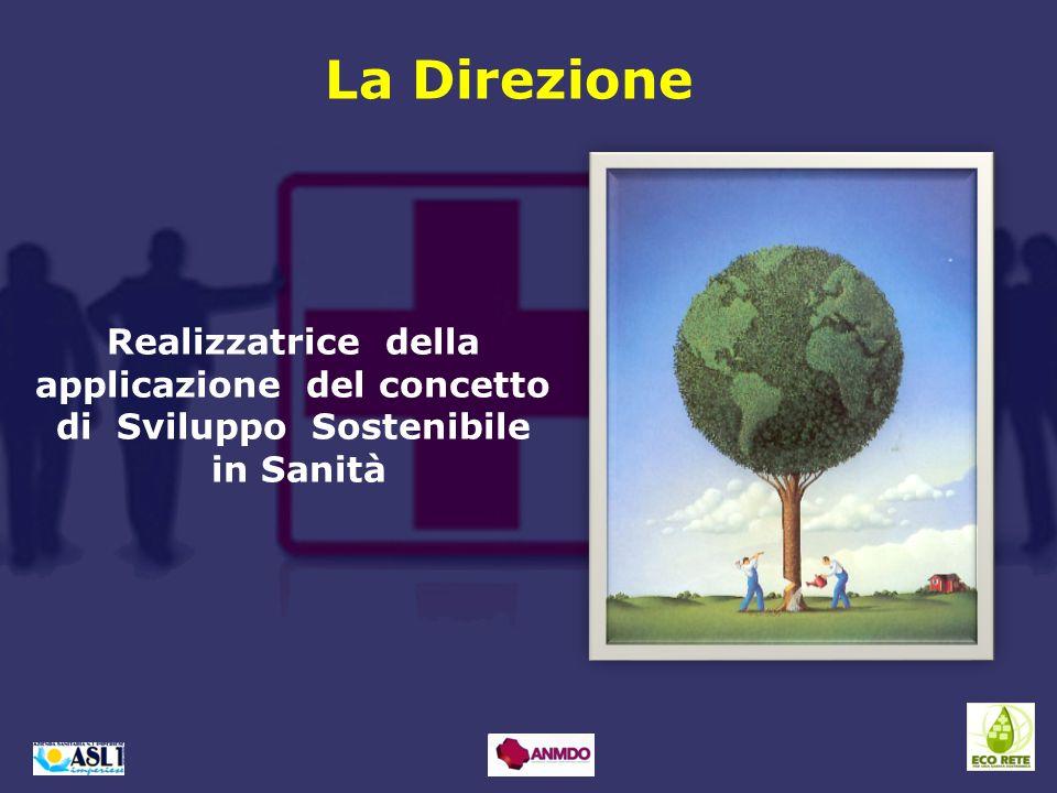 Realizzatrice della applicazione del concetto di Sviluppo Sostenibile in Sanità La Direzione