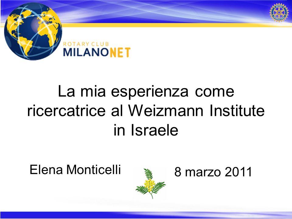 Mi sono laureata in Chimica presso lUniversità degli Studi di Milano e nel 2006/2007 sono stata vincitrice della borsa di studio Lombroso per la ricerca sul cancro presso il Weizmann Institute a Rehovot e collaborazione con lospedale Hadassah di Gerusalemme Poi ho iniziato e terminato una dottorato di ricerca in Biochimica presso lUniversità degli Studi di Milano