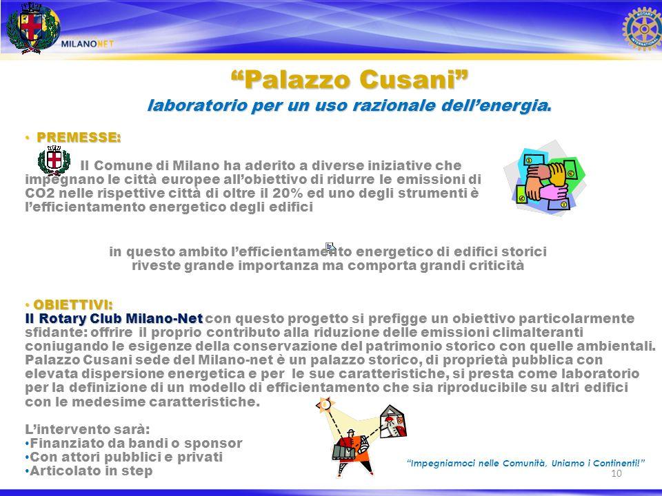 10 Palazzo Cusani laboratorio per un uso razionale dellenergia.Palazzo Cusani laboratorio per un uso razionale dellenergia.