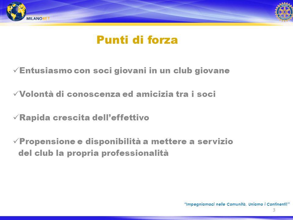 14 Progetti proposti dai soci Progetto EARGAMES EARGAMES Stabilometria/Posturologia Progetto del Rotary club Mi Linate, attivo dal 2005.