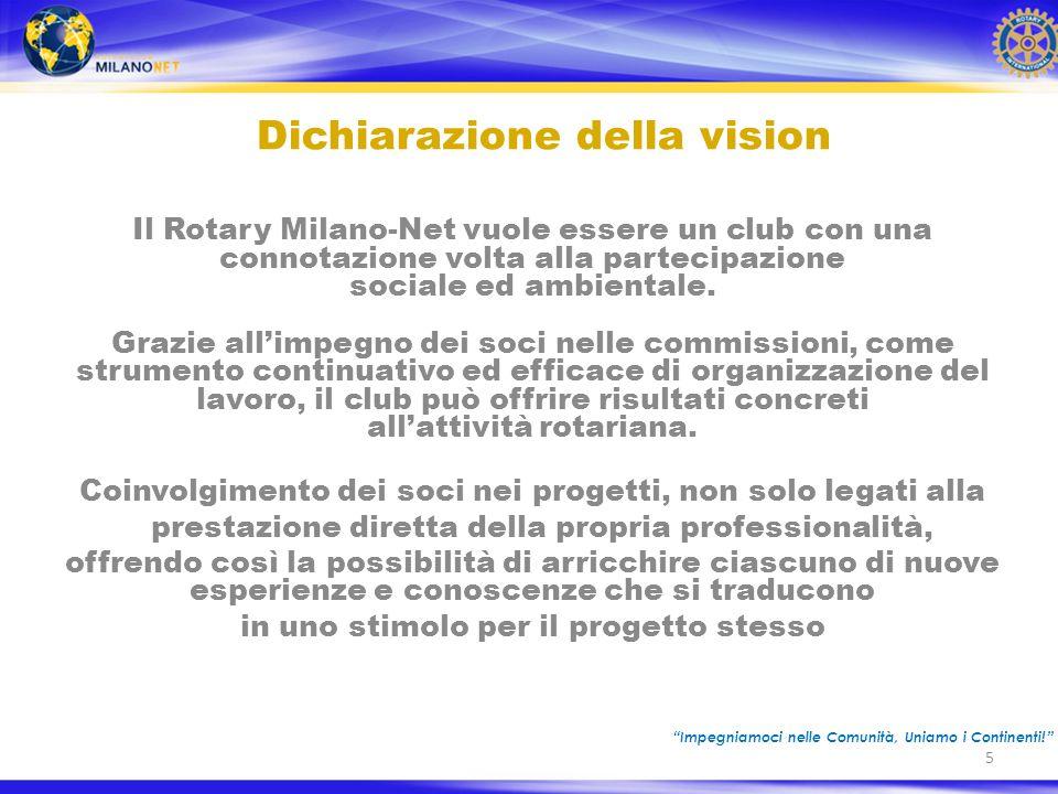 Il Rotary Milano-Net vuole essere un club con una connotazione volta alla partecipazione sociale ed ambientale.