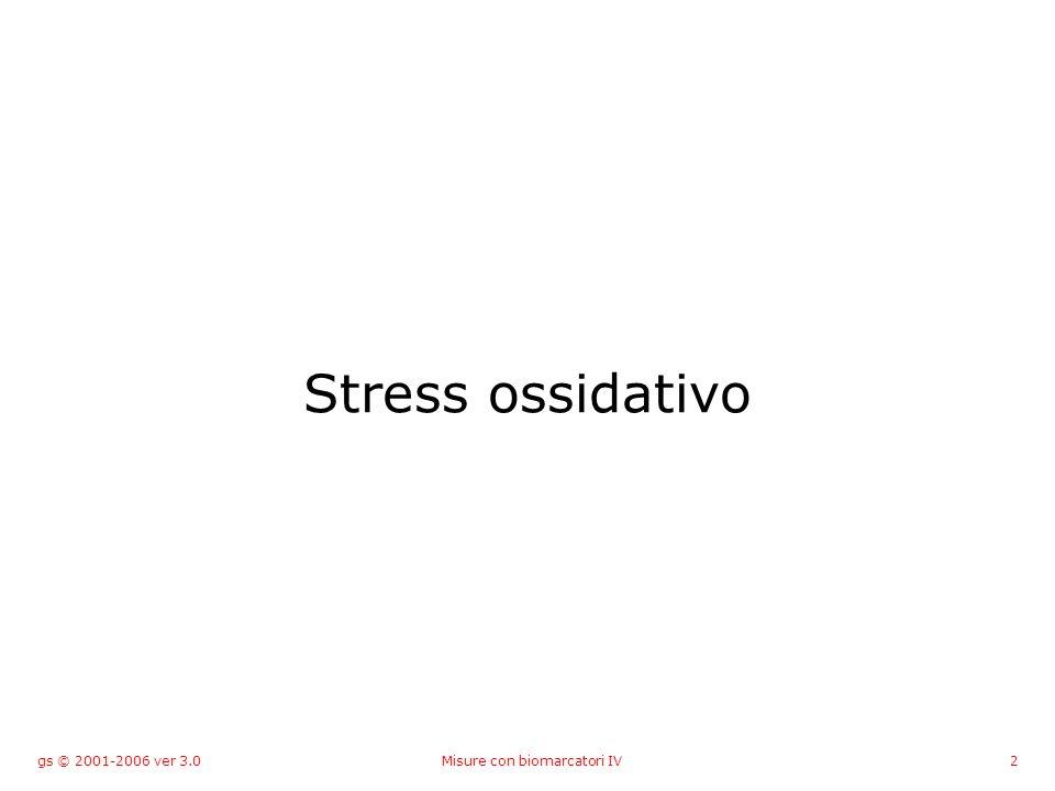 gs © 2001-2006 ver 3.0Misure con biomarcatori IV2 Stress ossidativo