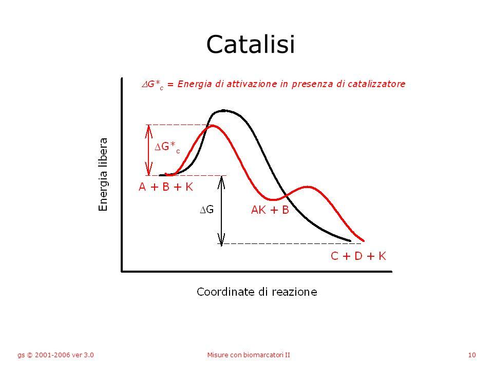gs © 2001-2006 ver 3.0Misure con biomarcatori II10 Catalisi