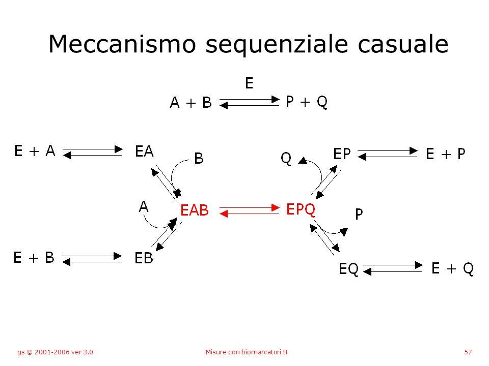 gs © 2001-2006 ver 3.0Misure con biomarcatori II57 Meccanismo sequenziale casuale