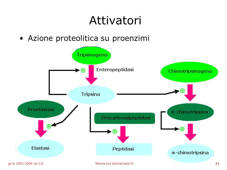 gs © 2001-2006 ver 3.0Misure con biomarcatori II84 Attivatori Azione proteolitica su proenzimi