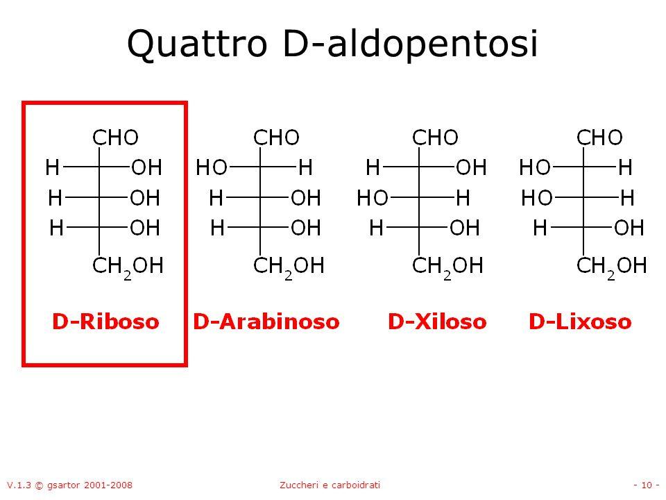 V.1.3 © gsartor 2001-2008Zuccheri e carboidrati- 11 - Otto D-aldoesosi