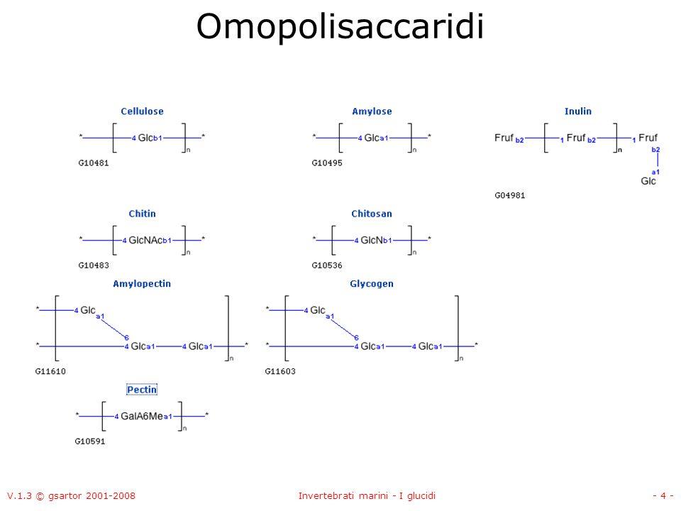 V.1.3 © gsartor 2001-2008Invertebrati marini - I glucidi- 25 - Laminarina -13