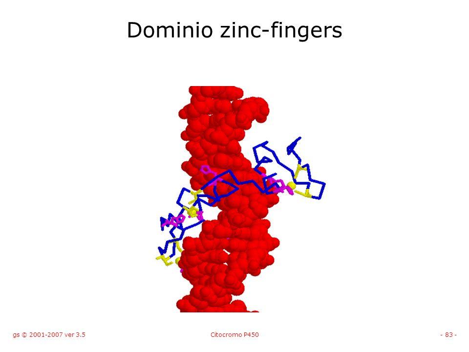 gs © 2001-2007 ver 3.5Citocromo P450- 83 - Dominio zinc-fingers