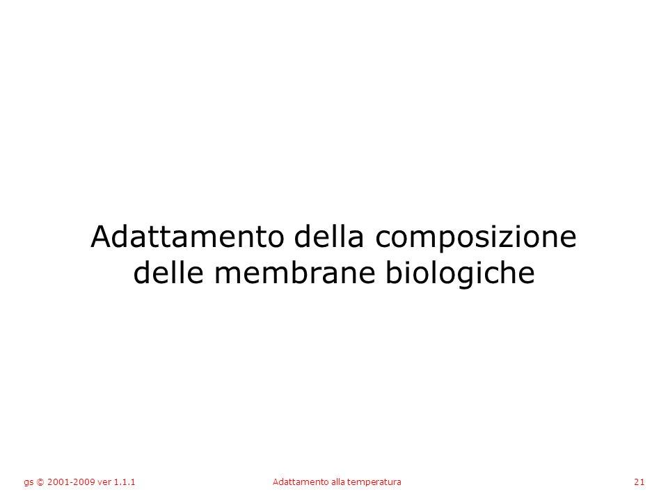 gs © 2001-2009 ver 1.1.1Adattamento alla temperatura21 Adattamento della composizione delle membrane biologiche