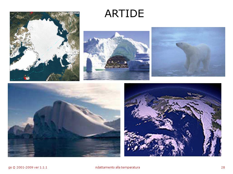 gs © 2001-2009 ver 1.1.1Adattamento alla temperatura28 ARTIDE