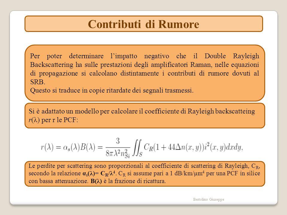 Bertolino Giuseppe Contributi di Rumore Per poter determinare limpatto negativo che il Double Rayleigh Backscattering ha sulle prestazioni degli ampli