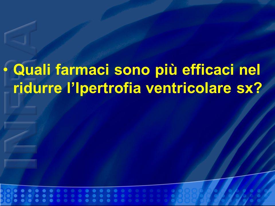 Quali farmaci sono più efficaci nel ridurre lIpertrofia ventricolare sx?