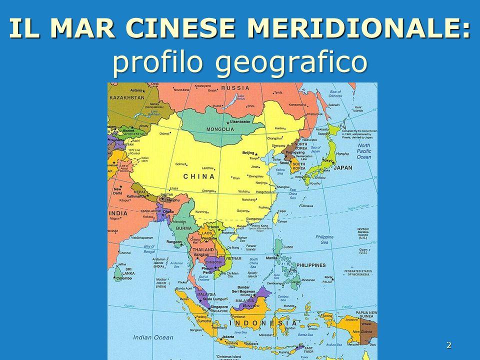 IL MAR CINESE MERIDIONALE: profilo geografico 2