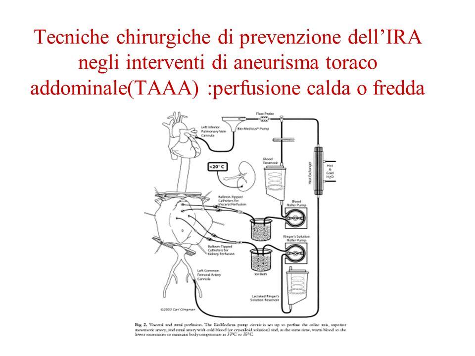 Tecniche chirurgiche di prevenzione dellIRA negli interventi di aneurisma toraco addominale(TAAA) :perfusione calda o fredda