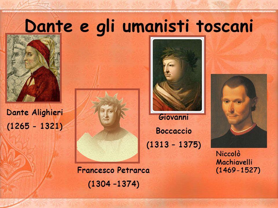 Dante Alighieri Sono stato il primo grandissimo letterato della lingua italiana.