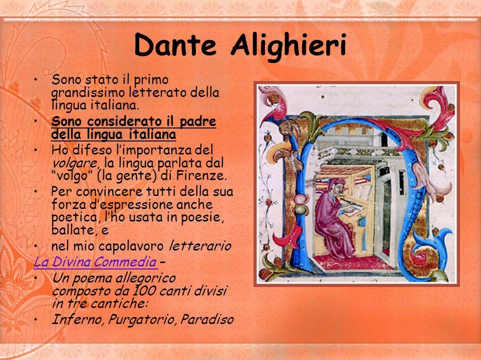 Francesco Petrarca Il mio capolavoro e il Canzoniere: Una raccolta di sonetti e canzoni di argomento principalmente amoroso, ma anche politico.