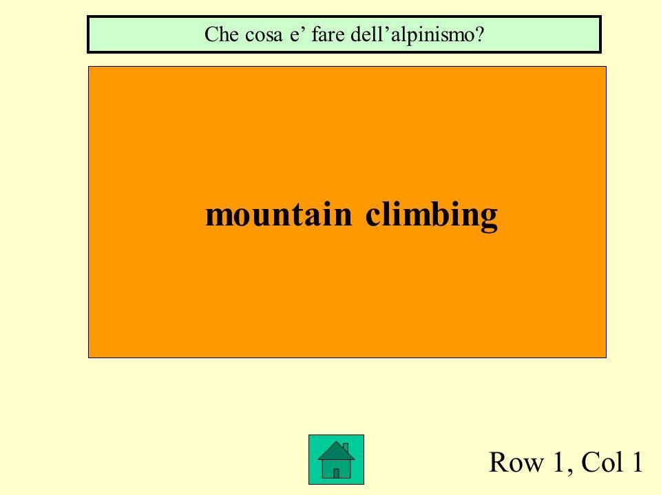Row 1, Col 1 mountain climbing Che cosa e fare dellalpinismo?