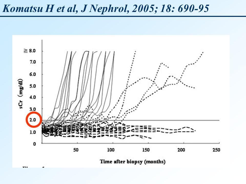 Komatsu H et al, J Nephrol, 2005; 18: 690-95