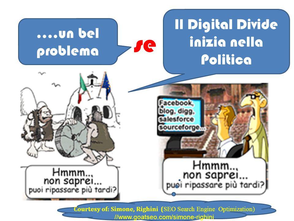 Courtesy of: Simone, Righini ( SEO Search Engine Optimization) //www.goatseo.com/simone-righini se ….un bel problema Il Digital Divide inizia nella Politica