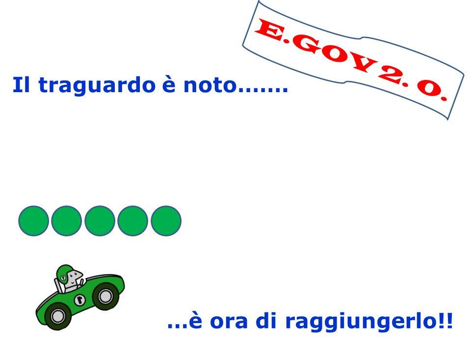 E.GOV 2. 0. Il traguardo è noto……. …è ora di raggiungerlo!!